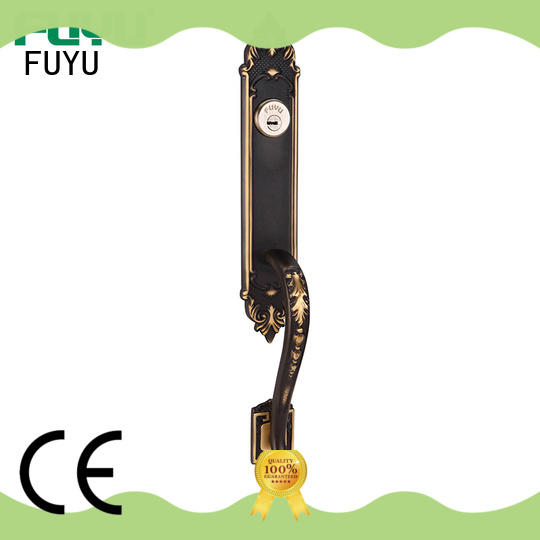 FUYU durable brass front door locks with latch for mall