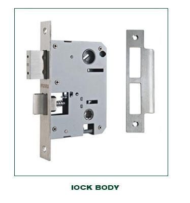 Classical antique brass big handle door lock for main door-1