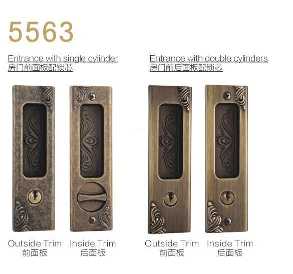 FUYU plate door handle lock meet your demands for entry door-1