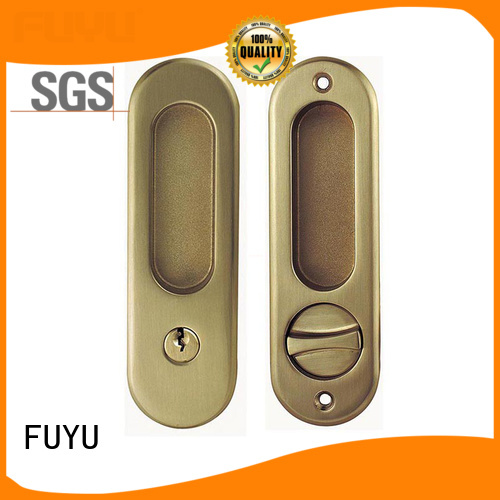 FUYU exterior sliding door handle with lock manufacturer for shop