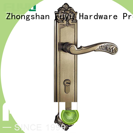 FUYU fittings simple door lock with latch for entry door