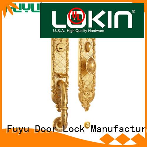 FUYU enter brass bathroom door locks with latch for mall