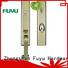 High security zinc entry door handle set with lock