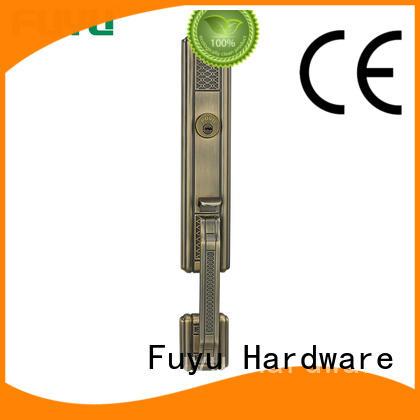 material bathroom door handle with lock steel for shop FUYU