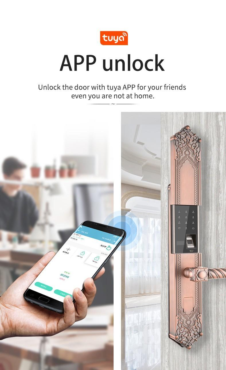 FUYU electronic keypad door lock for home-3