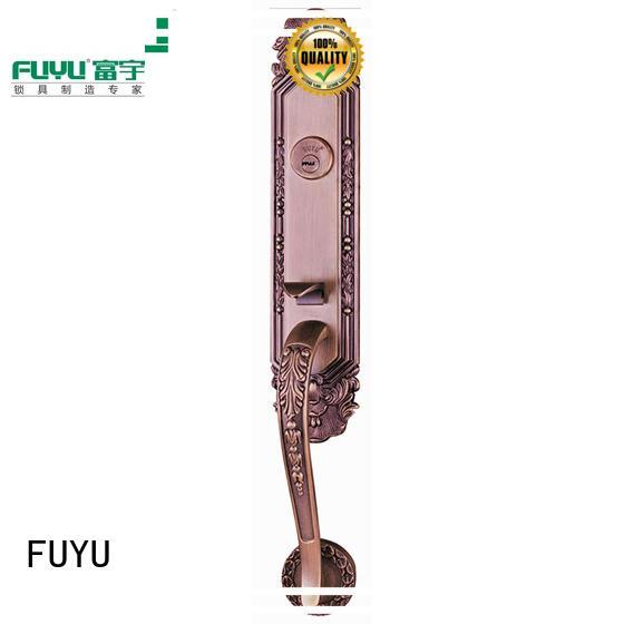 FUYU turn zinc alloy door lock on sale for mall
