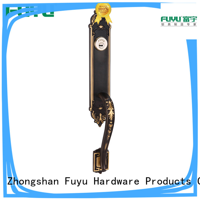 FUYU custom brass mortice lock with latch for home
