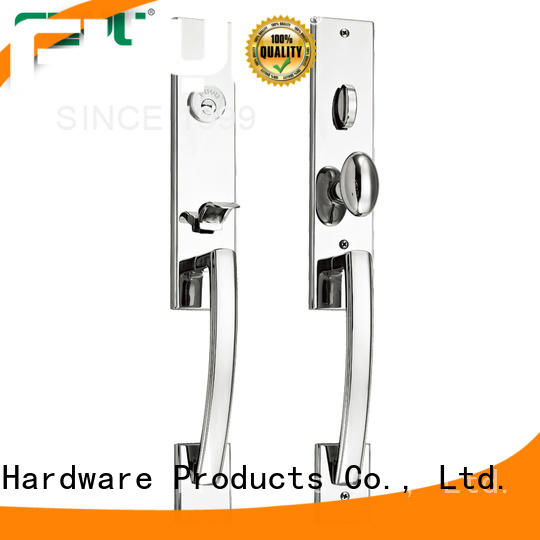 FUYU stronge stainless steel sliding door lock stainless for shop