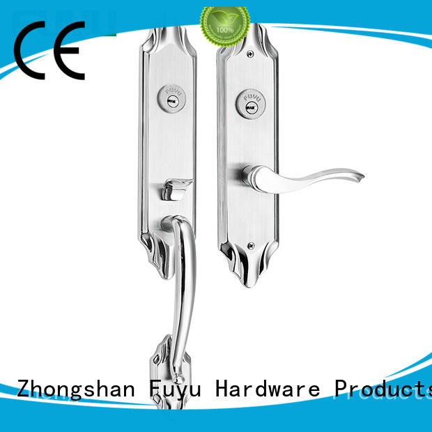 wooden stainless door lock with international standard for shop