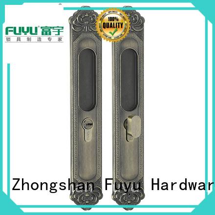 FUYU size zinc alloy door lock for wooden door with latch for shop