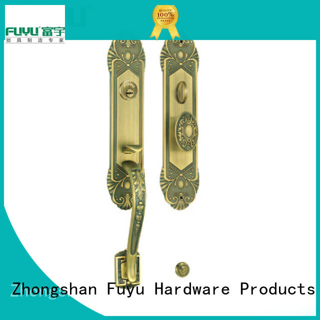 Classical antique brass big handle door lock for main door