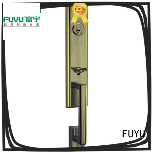 FUYU quality door lock design with latch for shop
