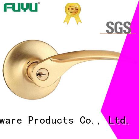 FUYU quality lever handle door lock extremely security for wooden door