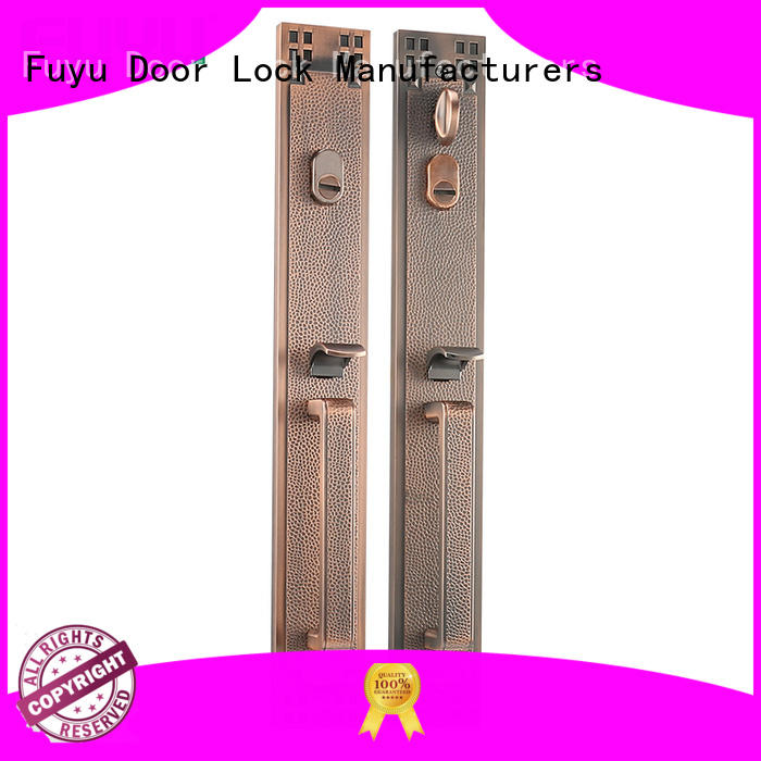 FUYU alloy door handle lock on sale for mall