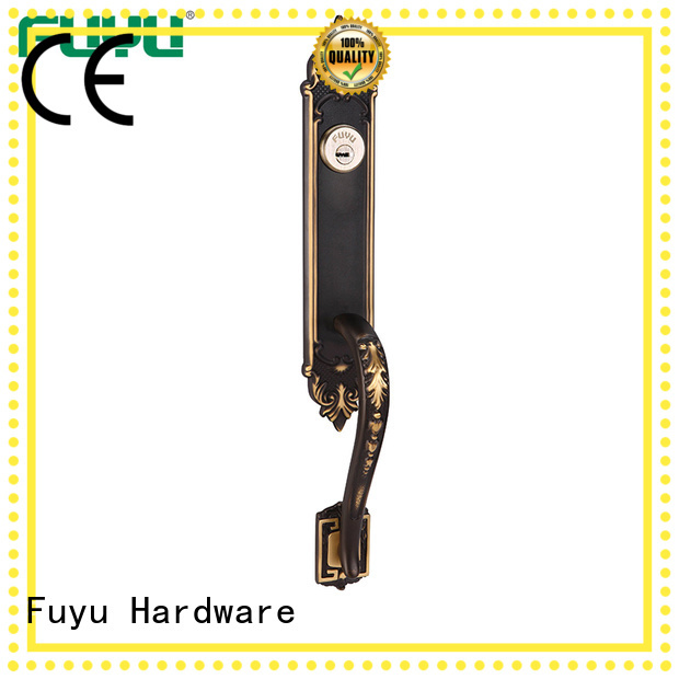 FUYU double brass door lock with latch for mall