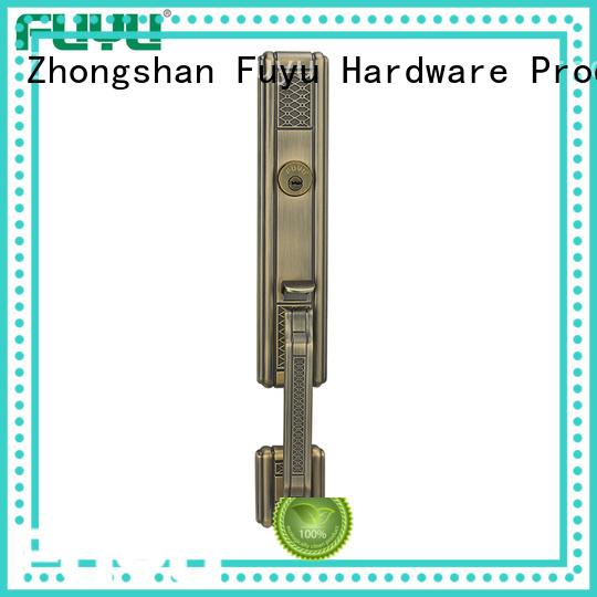 FUYU durable zinc alloy grip handle door lock meet your demands for indoor