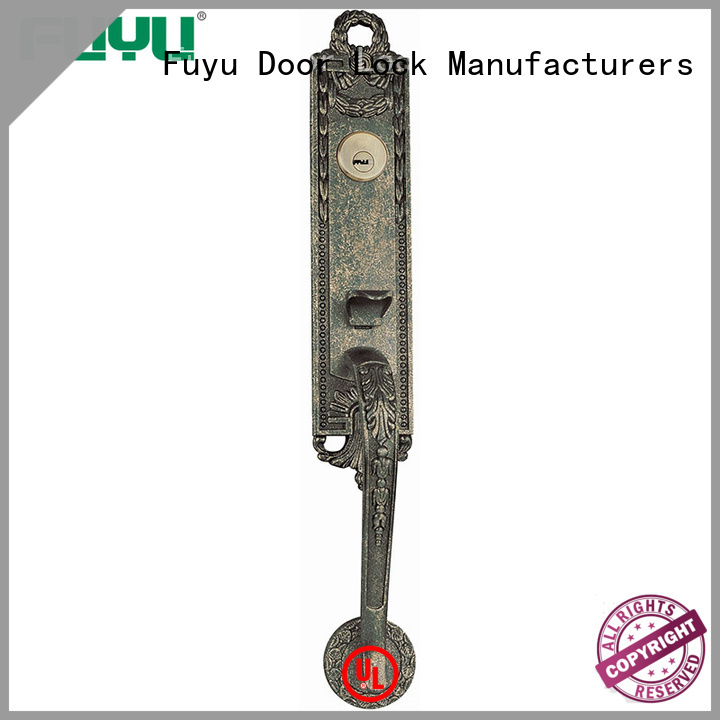 durable zinc alloy door lock for wood door black on sale for mall