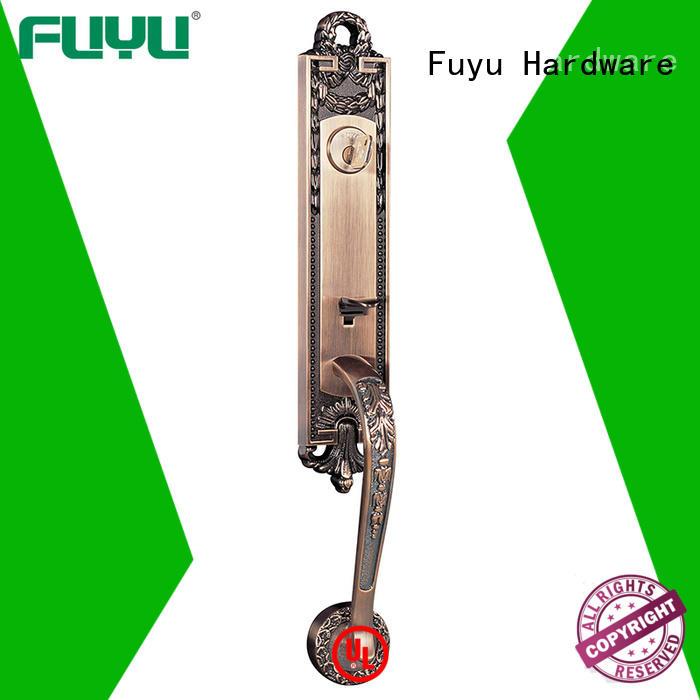 dubai anti-theft zinc alloy door lock with latch for shop FUYU
