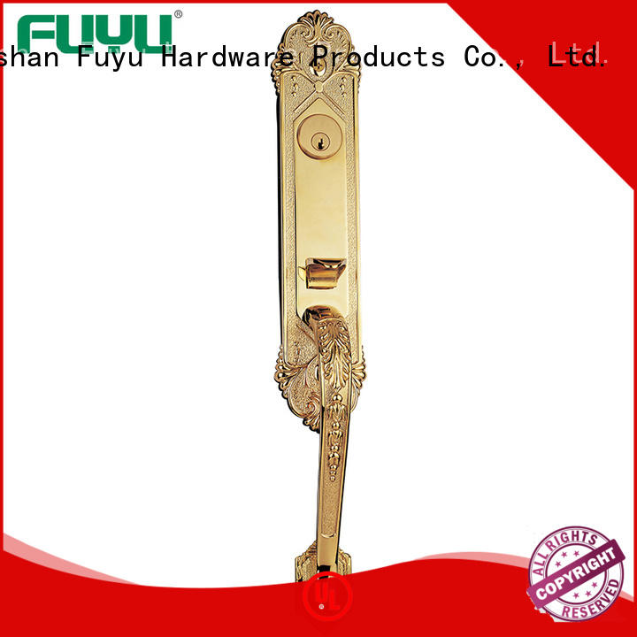 FUYU different zinc alloy door lock for metal door with latch for entry door