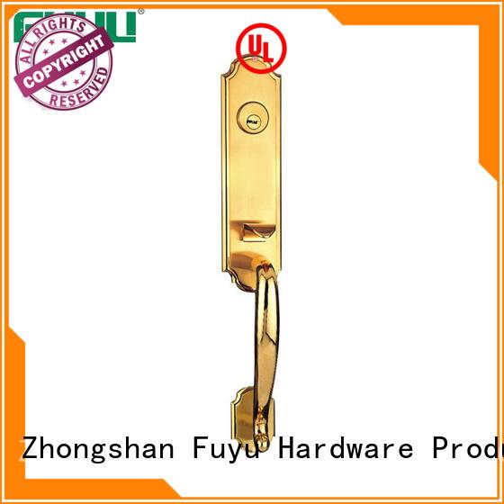 FUYU high security zinc alloy handle door lock on sale for mall