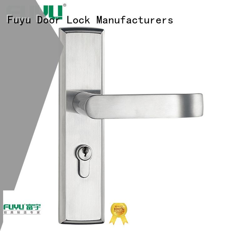 FUYU complete aluminium door lock on sale for shop