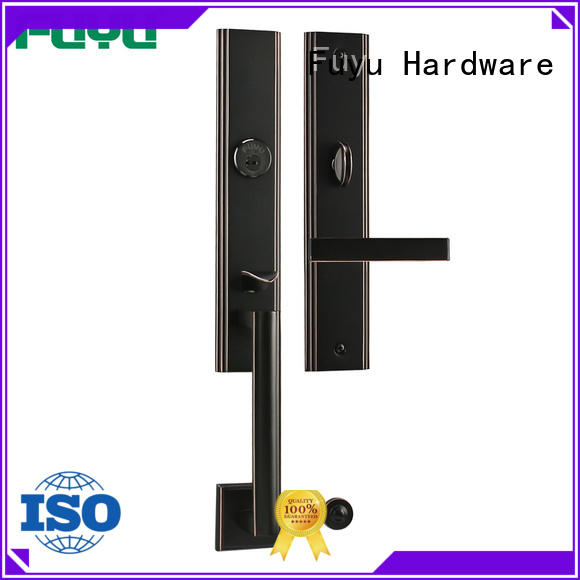 FUYU durable brass door lock with latch for shop