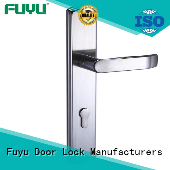 FUYU online stainless steel entry door locks on sale for mall