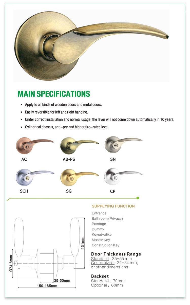 FUYU plain door lock design on sale for entry door-1
