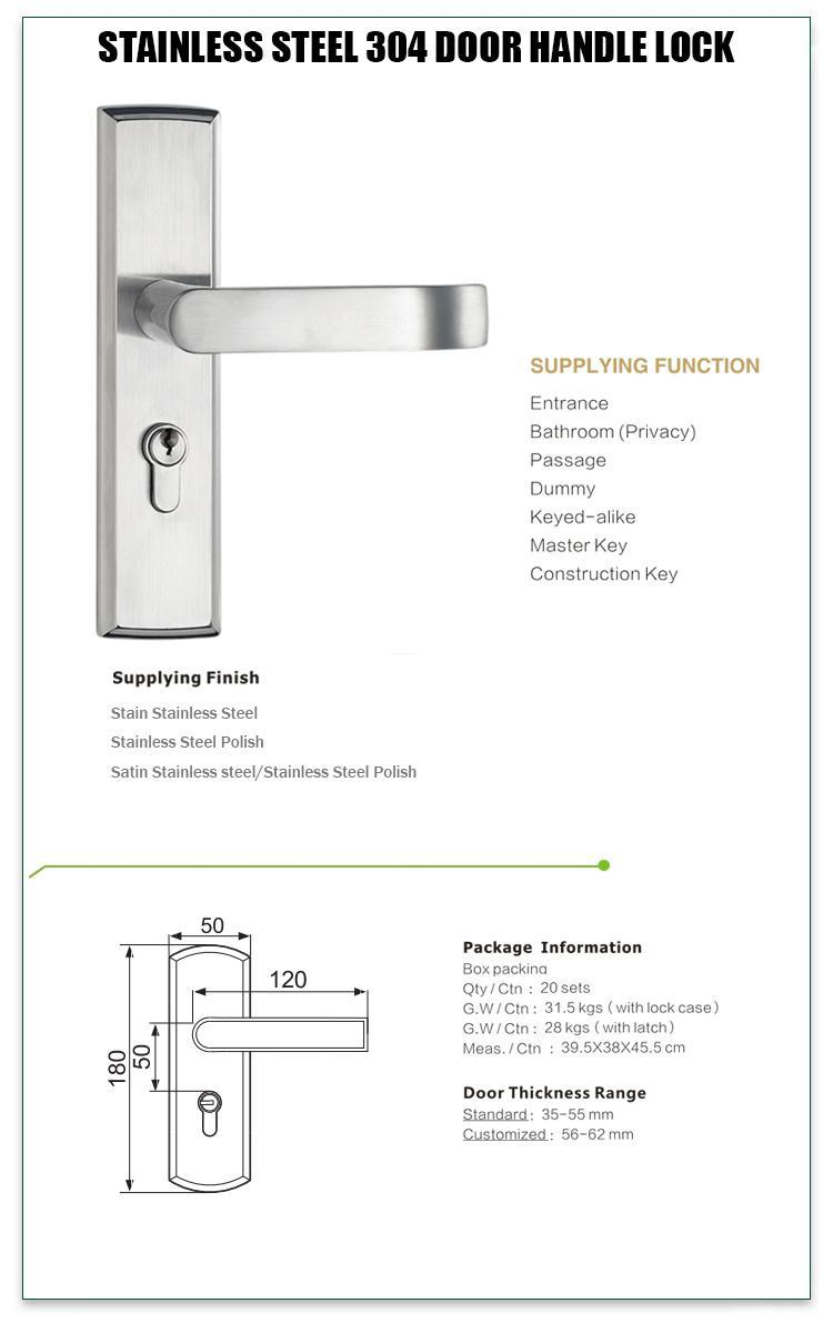 FUYU mortise lock handle extremely security for residential-1