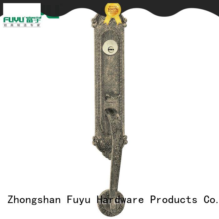 FUYU key zinc alloy door lock for timber door on sale for mall