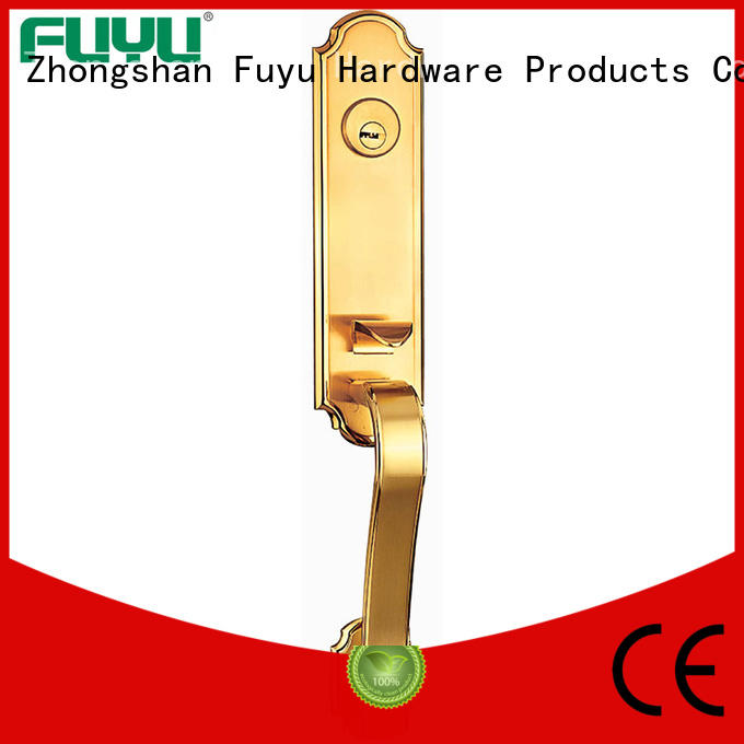 FUYU quality zinc alloy door lock for wooden door with latch for mall