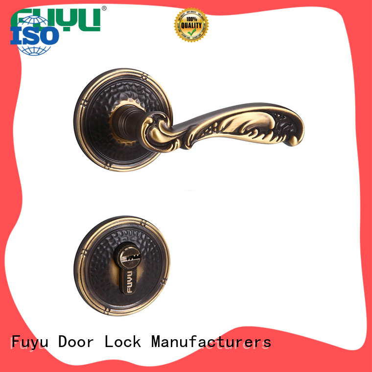 FUYU enter anti theft door lock with latch for shop