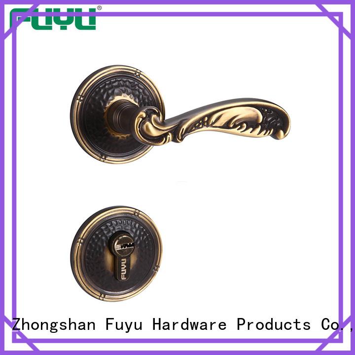 FUYU villa brass mortice lock with latch for wooden door