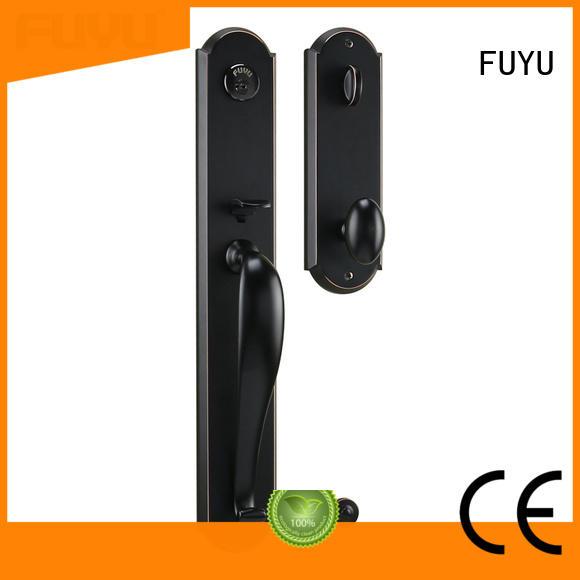 FUYU zinc tubular knob lock zinc for shop