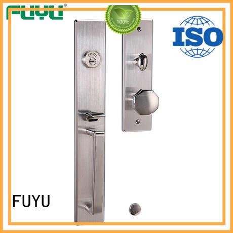 FUYU quality stainless steel door locks with international standard for wooden door