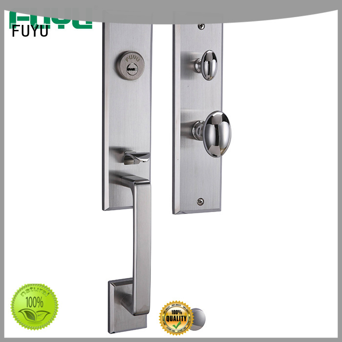 handle stainless steel mortice lock with international standard for mall FUYU