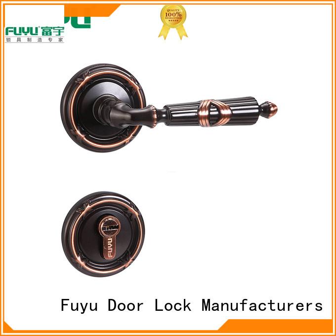 FUYU best security door handle lock supplier for home