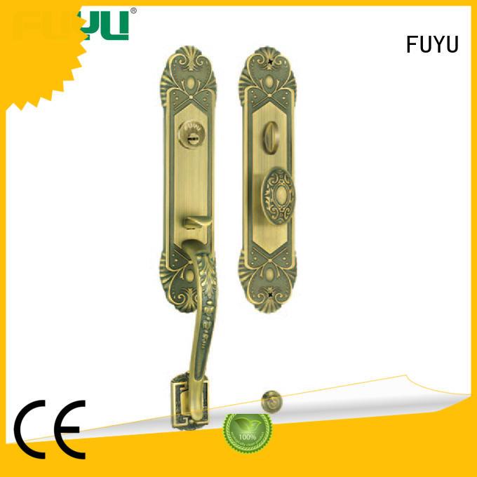 FUYU grip handle door lock manufacturer for wooden door
