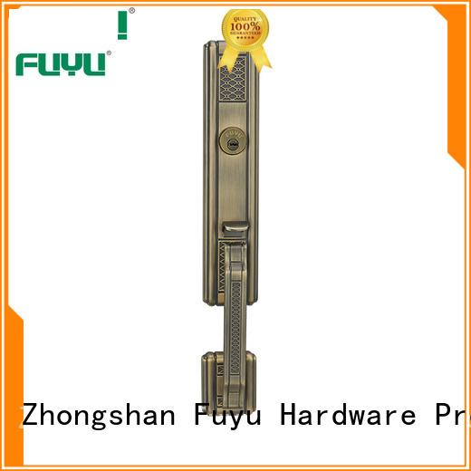 zinc alloy mortise handle door lock wood for shop FUYU