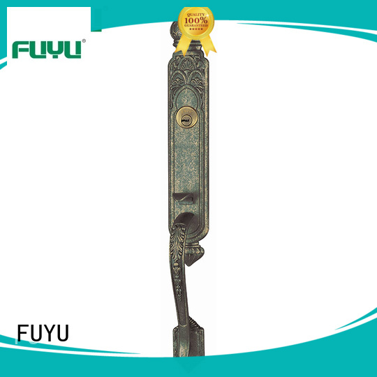 FUYU quality customized zinc alloy door lock with latch for shop