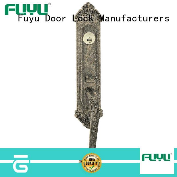 FUYU durable zinc alloy handle door lock on sale for indoor