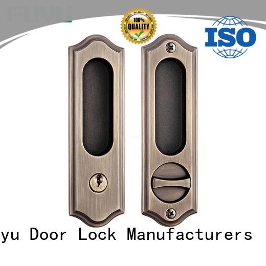 FUYU timber zinc alloy door lock on sale for entry door