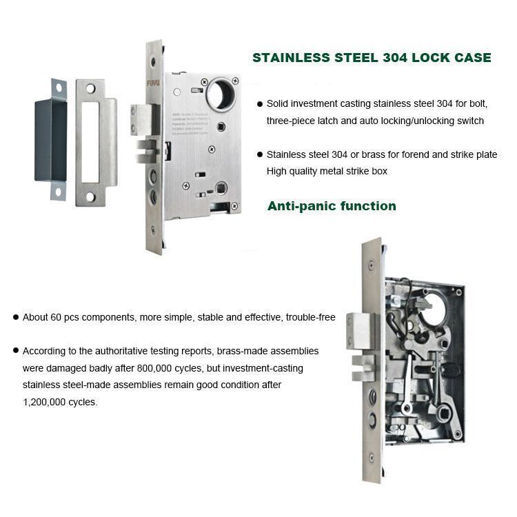 FUYU grip handle door lock manufacturer for entry door-3