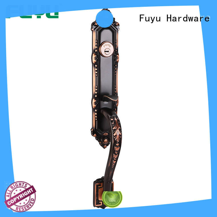 FUYU bolt brass mortice lock with latch for wooden door