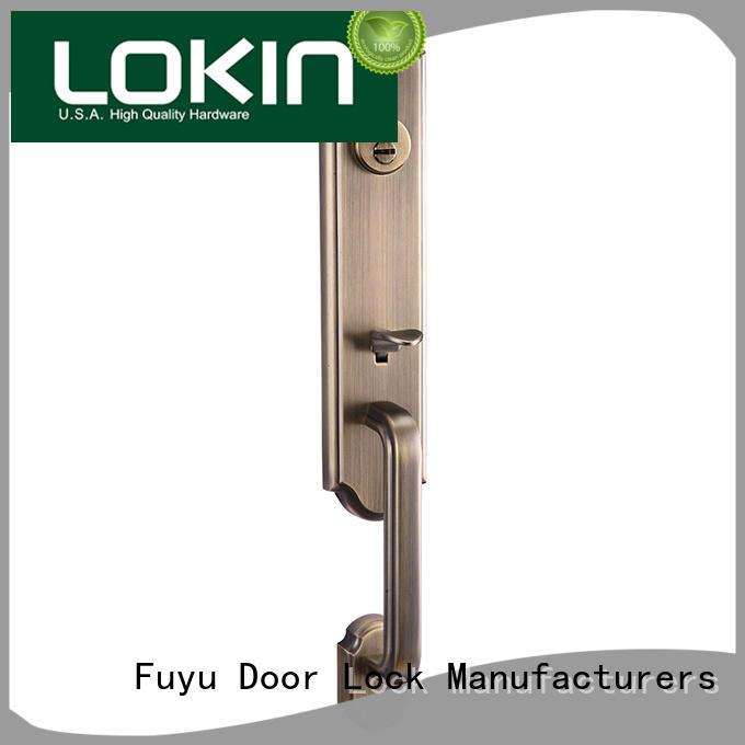 FUYU high security entry door locks supplier for wooden door