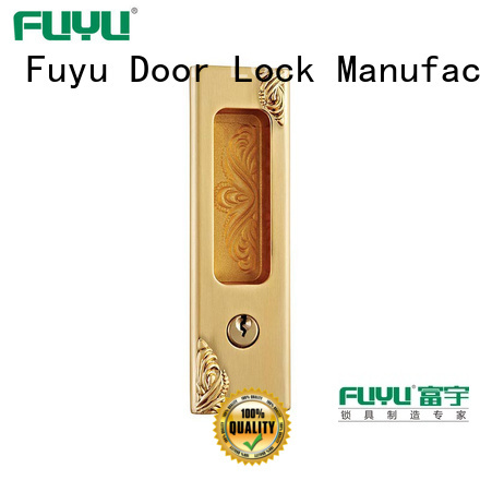FUYU heavy duty sliding door lock for sale for mall