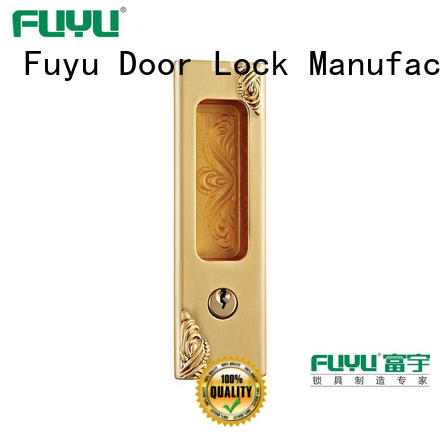 FUYU heavy duty sliding door lock for sale for mall