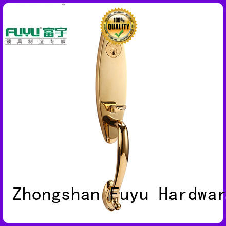 quality brass door knob with lock with latch for home FUYU