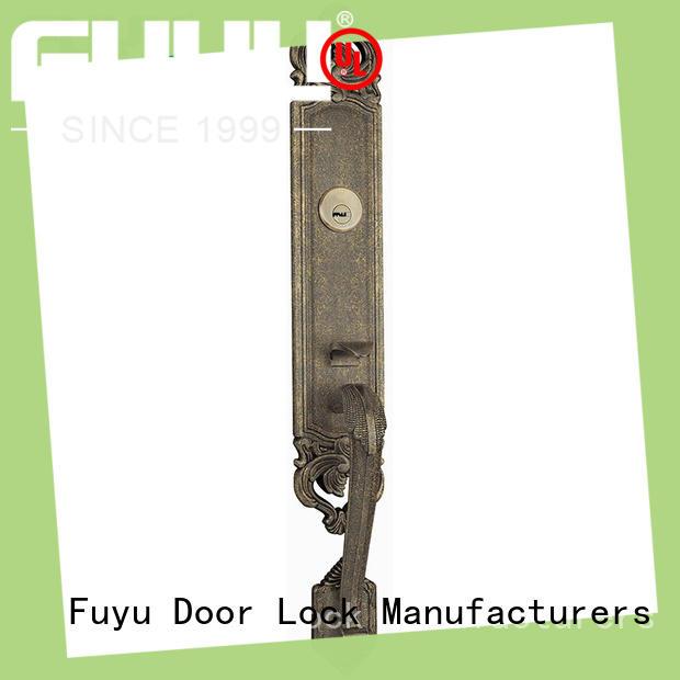 FUYU quality zinc alloy door lock for wooden door with latch for entry door