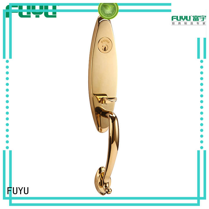 FUYU high security brass door knob with lock with latch for home